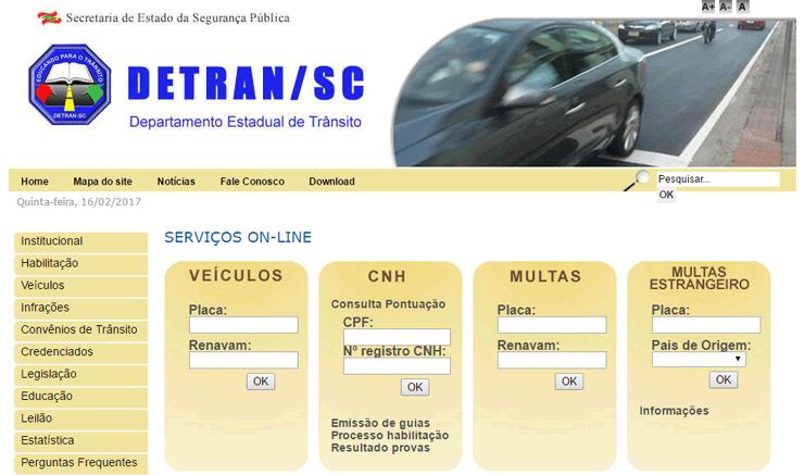 Consulta IPVA 2020 Santa Catarina