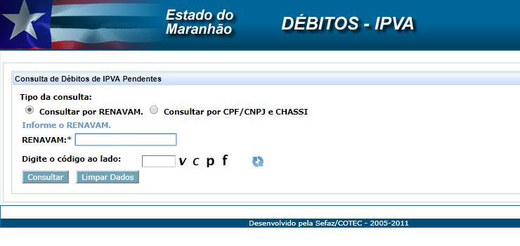 Consulta IPVA Maranhão 2020