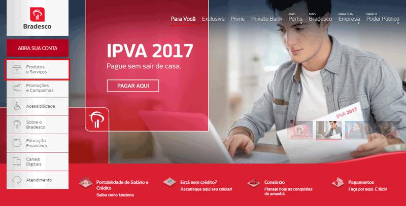 Acesse o portal Bradesco para pagamento do IPVA 2020