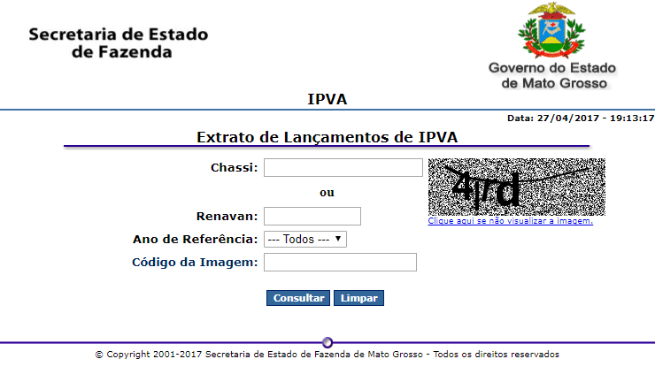 Consulta IPVA Mato Grosso 2020